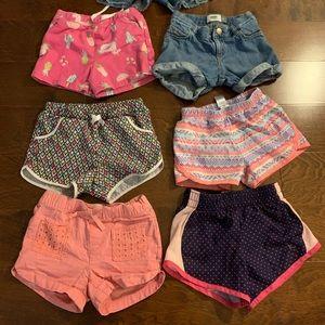5t shorts bundle girls. 7 pairs